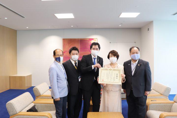 横浜開港記念日にマスクの寄付を致しました