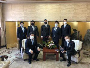 黒岩県知事に新年のご挨拶訪問